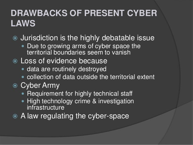 abstract for cyber laws and crimes Joint law enforcement efforts to address computer crime by: david ford this presentation will provide an overview of the fbi's approach to fighting cyber crime and stress the importance of law enforcement agencies working together to identify and prosecute criminal violations related to computers.