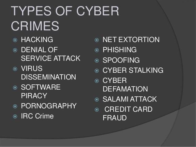 Cyber crime types \u0026 laws
