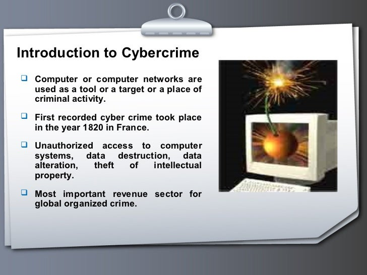 an introduction to the issue of computer crimes 1 this paper was written with the intention of serving students in the is340 introduction to information assurance,  a brief history of computer crime.