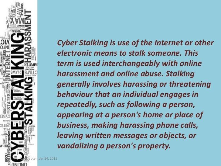Cyberstalking essay
