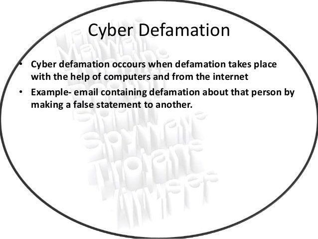 Online defamation.