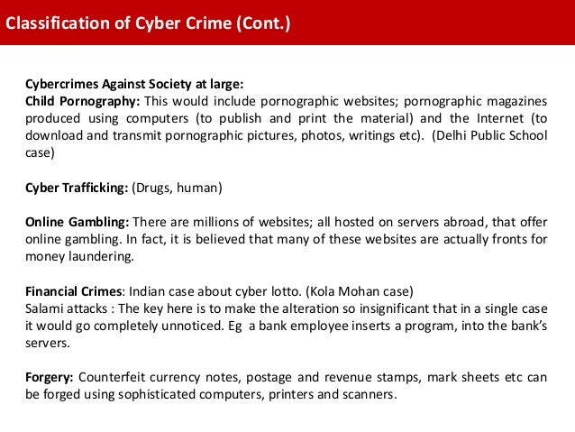 18. Classification of Cyber Crime ...