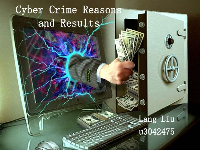 Cyber Crime Reasons and Results Lang Liu u3042475