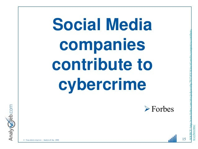 © Tous droits réservés – Analyweb Inc. 2008 Social Media companies contribute to cybercrime Forbes 15 SOURCE:http://www.f...