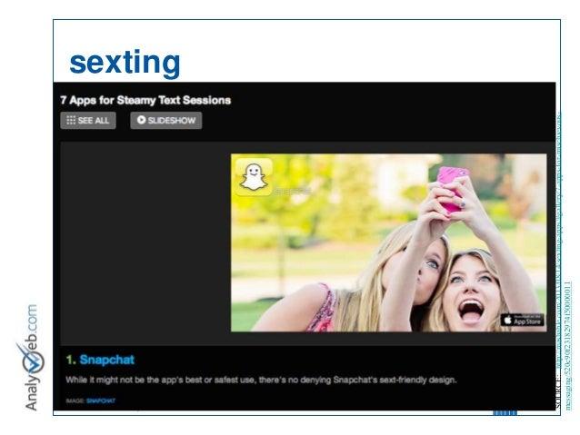 © Tous droits réservés – Analyweb Inc. 2008 sexting 17 SOURCE: http://mashable.com/2013/08/14/sexting-apps/#gallery/7-apps...