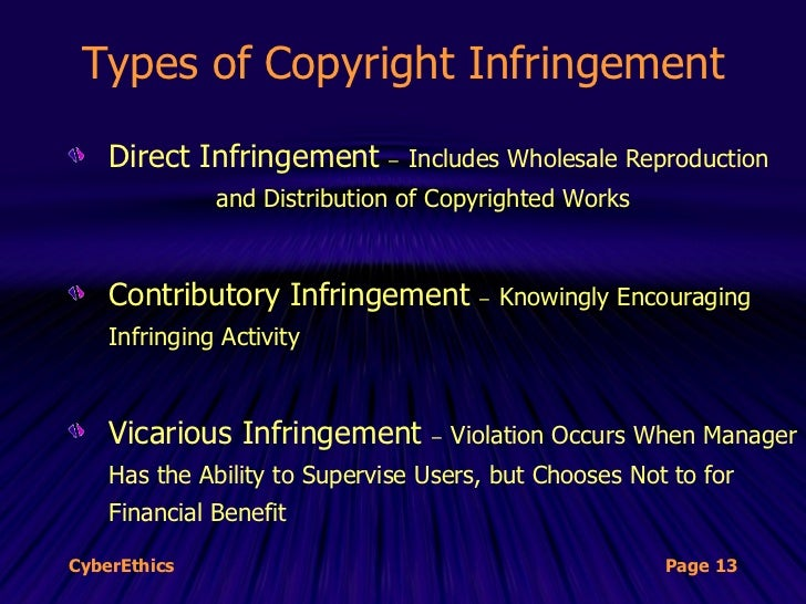 ethics and copyright infringement essay Other countries have similar counterparts, and while the actual laws and  for  example, say you're writing an essay, and you include a paragraph you read in   law vs ethics copyright infringement is a legal issue when you infringe on.