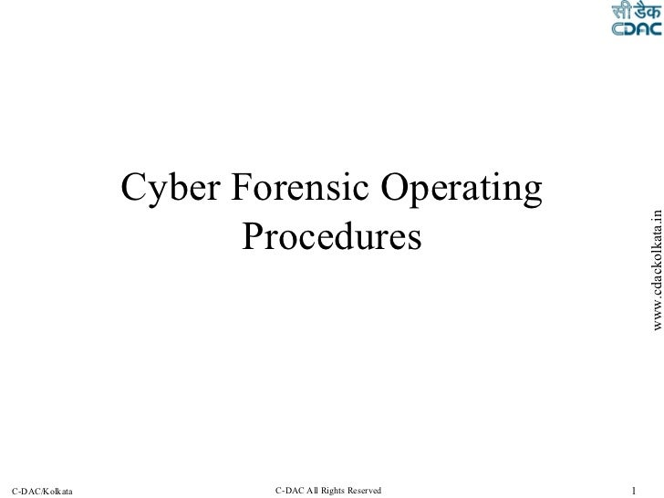 Cyber Forensic Operating Procedures