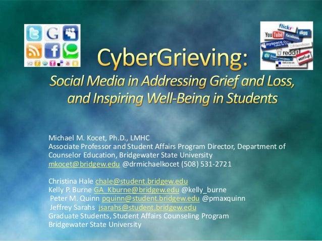 Michael M. Kocet, Ph.D., LMHC Associate Professor and Student Affairs Program Director, Department of Counselor Education,...