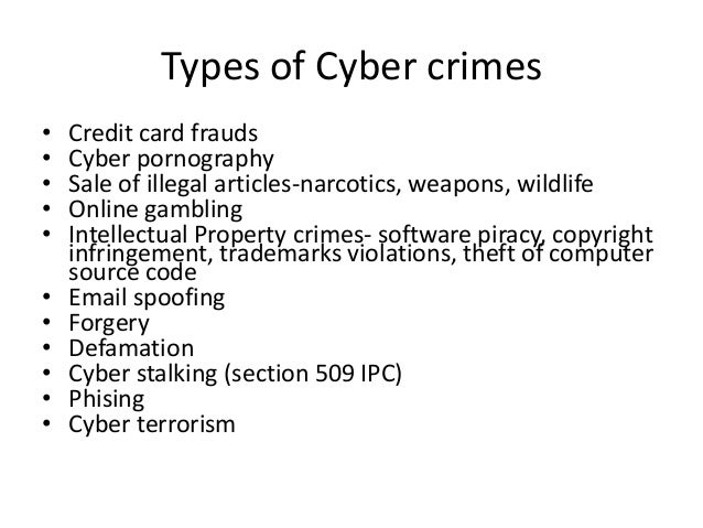 cybercrime law Cybercrime includes any type of illegal scheme that uses one or more components of the internet (chat rooms, email, message boards, websites, and auctions) to conduct fraudulent transactions.