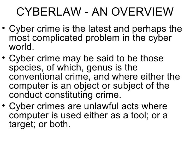 an overview of the cybercrime law In this article we will provide an overview of cybercrime in iraq and discuss the  efficacy of iraqi legislation surrounding cybercrime overview of.