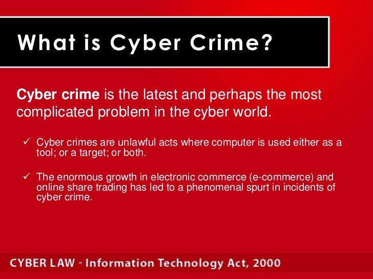 effects of cybercrime law to it Effects of cyber crime cybercrime is currently on the rise in our society ranging from fraud, spam, offensive contents, harassments.