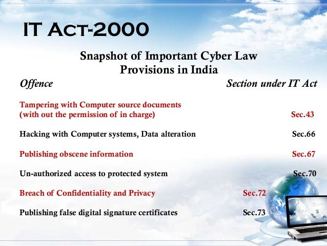 Essay on cyber law in india