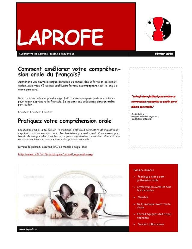 """LAPROFE """" LaProfe tiene facilidad para motivar la conversación y transmitir su pasión por el idioma que enseña."""" Santi Bol..."""