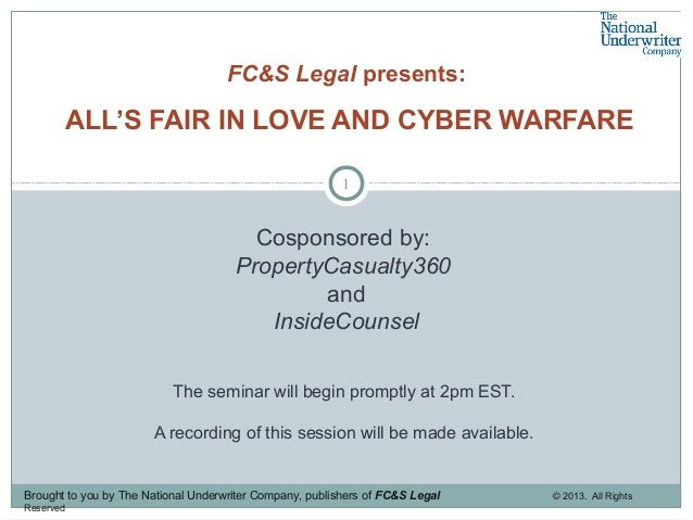 1 Cosponsored by: PropertyCasualty360 and InsideCounsel The seminar will begin promptly at 2pm EST. A recording of this se...