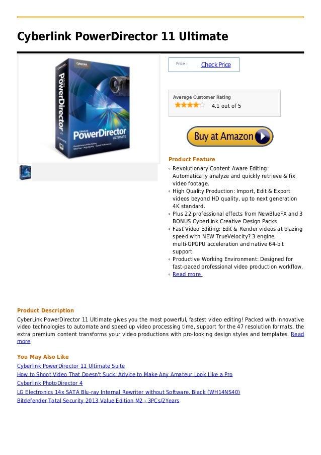 Cyberlink PowerDirector 11 Ultimate                                                               Price :                 ...