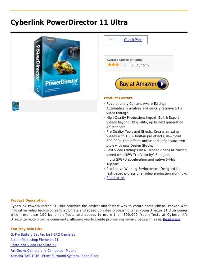 Cyberlink PowerDirector 11 Ultra                                                            Price :                       ...