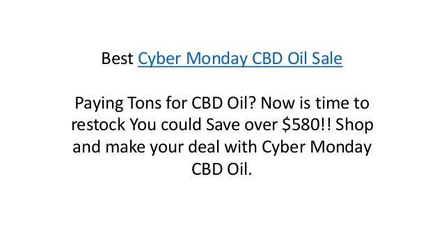 Cyber Monday Cbd Oil Deals