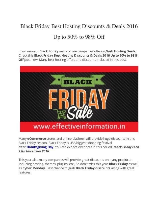 black friday cyber monday best hosting deals 2016. Black Bedroom Furniture Sets. Home Design Ideas