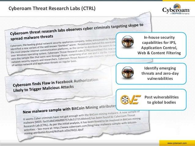 Cyberoam Firewall Presentation