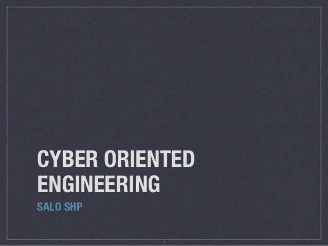 CYBER ORIENTED ENGINEERING SALO SHP 1