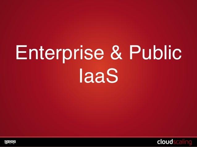 Enterprise & Public  IaaS