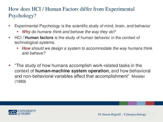 why we study human behavior