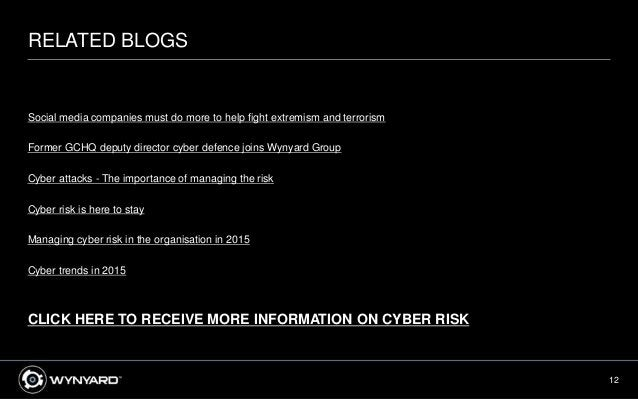 12 RELATED BLOGS Social media companies must do more to help fight extremism and terrorism Former GCHQ deputy director cyb...