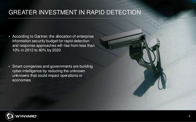 4 GREATER INVESTMENT IN RAPID DETECTION • According to Gartner, the allocation of enterprise information security budget f...