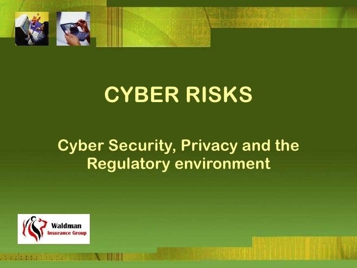 CYBER RISKS Cyber Security, Privacy and the Regulatory environment