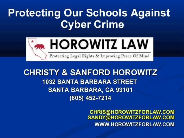 CHRISTY & SANFORD HOROWITZCHRISTY & SANFORD HOROWITZ 1032 SANTA BARBARA STREET1032 SANTA BARBARA STREET SANTA BARBARA, CA ...
