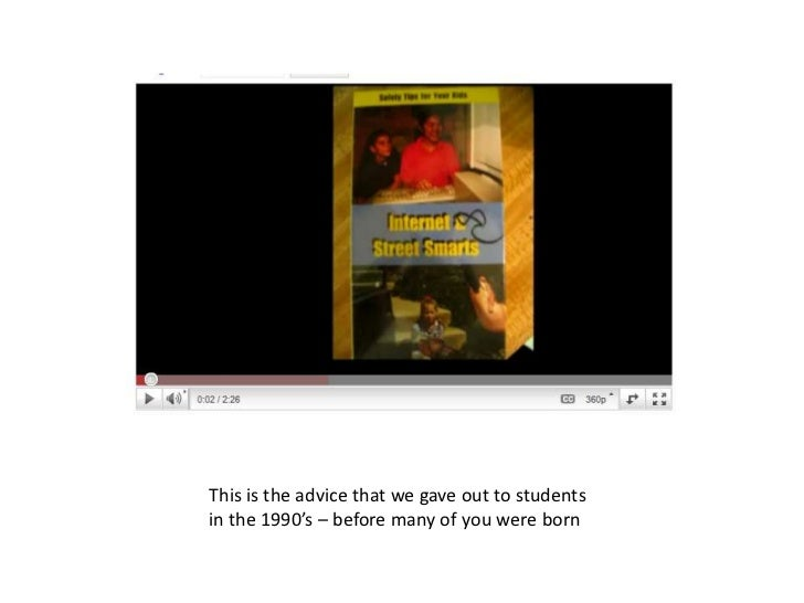 This is the advice that we gave out to students in the 1990's – before many of you were born<br />