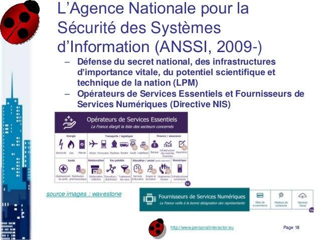 http://www.personalinteractor.eu L'Agence Nationale pour la Sécurité des Systèmes d'Information (ANSSI, 2009-) – Défense d...
