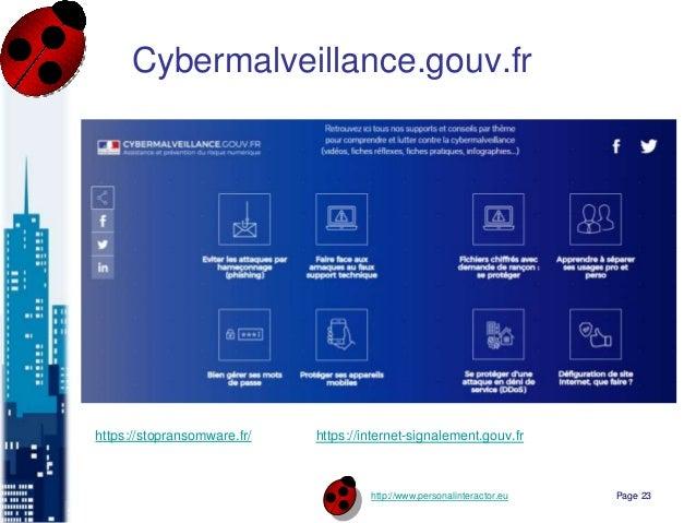 http://www.personalinteractor.eu Cybermalveillance.gouv.fr Page 23 https://stopransomware.fr/ https://internet-signalement...