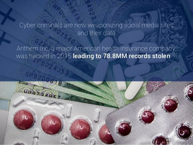 Cyber criminals are now weaponizing social media sites and their data Anthem Inc, a major American health insurance compan...