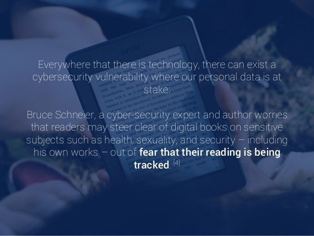 Everywhere that there is technology, there can exist a cybersecurity vulnerability where our personal data is at stake: Br...