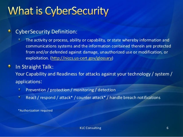 definition of cyber security pdf