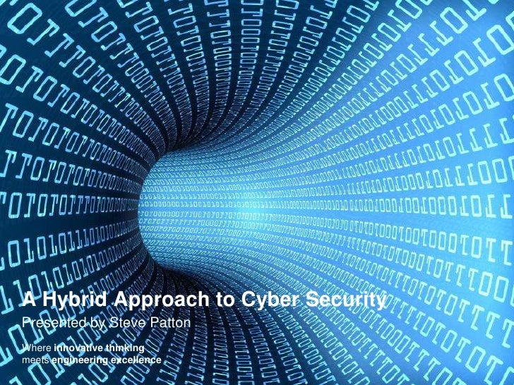A Hybrid Approach to Cyber SecurityPresented by Steve PattonWhere innovative thinkingmeets engineering excellence