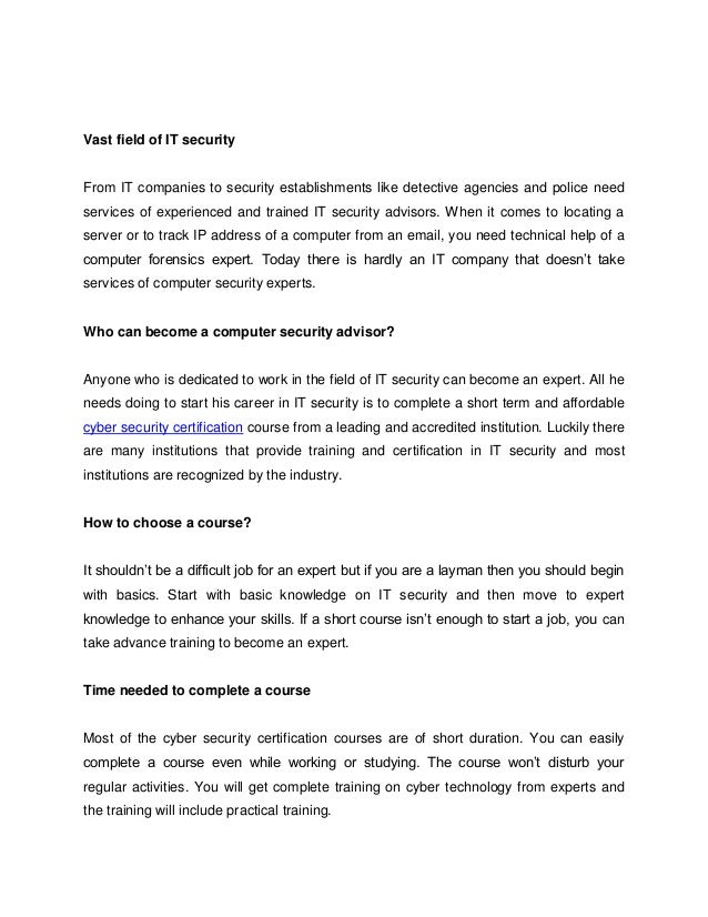 Cyber Security Certification Cybercrime Investigators