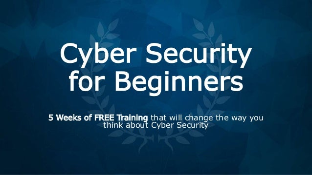 Cyber Security For Beginners Course