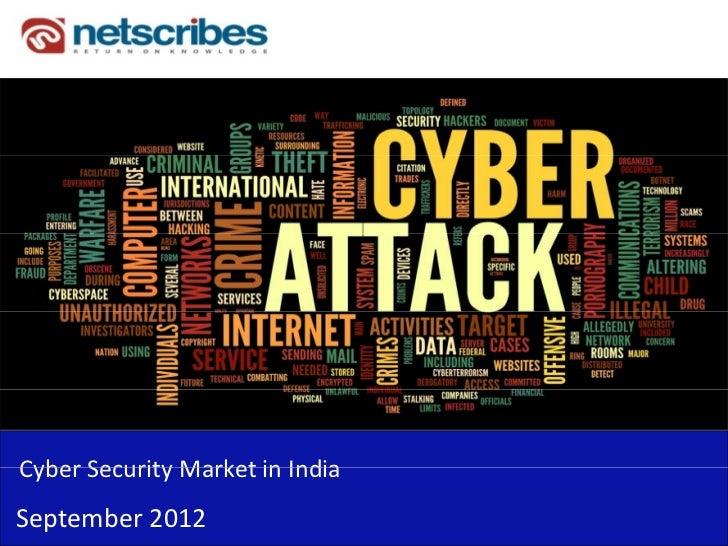 CyberSecurityMarketinIndiaCyber Security Market in IndiaSeptember2012