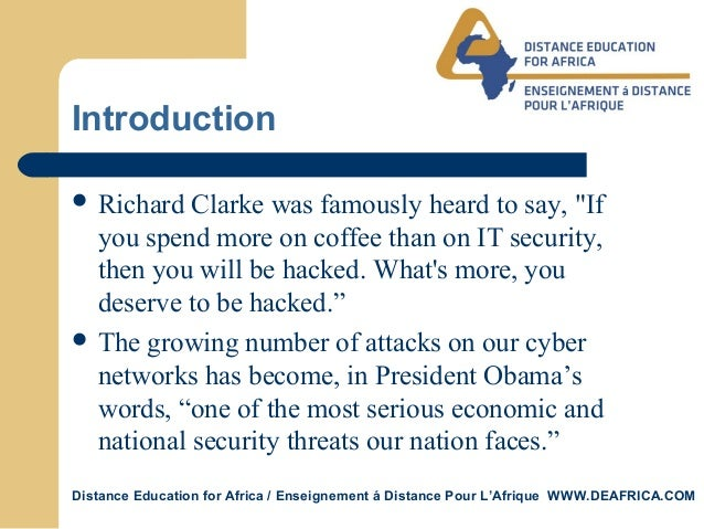 Cyber security vs information assurance Slide 3