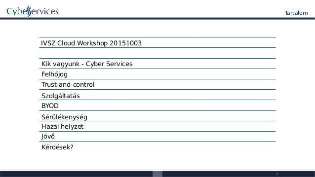 Cyber services 2015_ivsz_cloud_bme_1v0p1 Slide 2