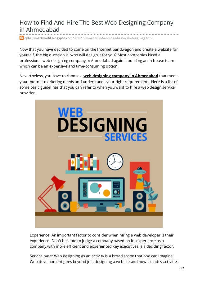 How To Find And Hire The Best Web Designing Company In Ahmedabad