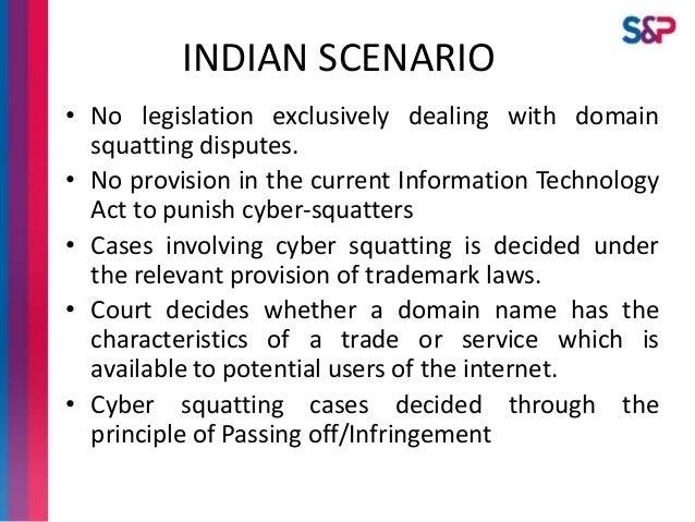 Cybersquatting in India - Genesis & Legal Scenario