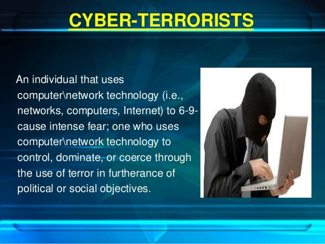cyber warfare cyber terrorism An example of cyber-terrorism could be hacking into a hospital computer system   to the survival of the us, all of which can be threatened by cyber-warfare.