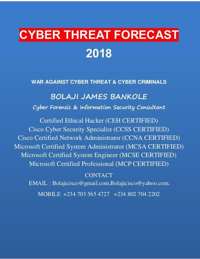 Cyber Threat Forecast 2018