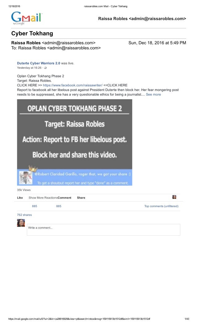 How Cyber Tokhang is done on Facebook