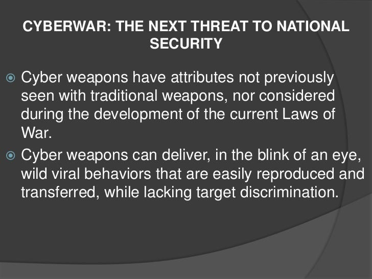 Global Threats and National Security