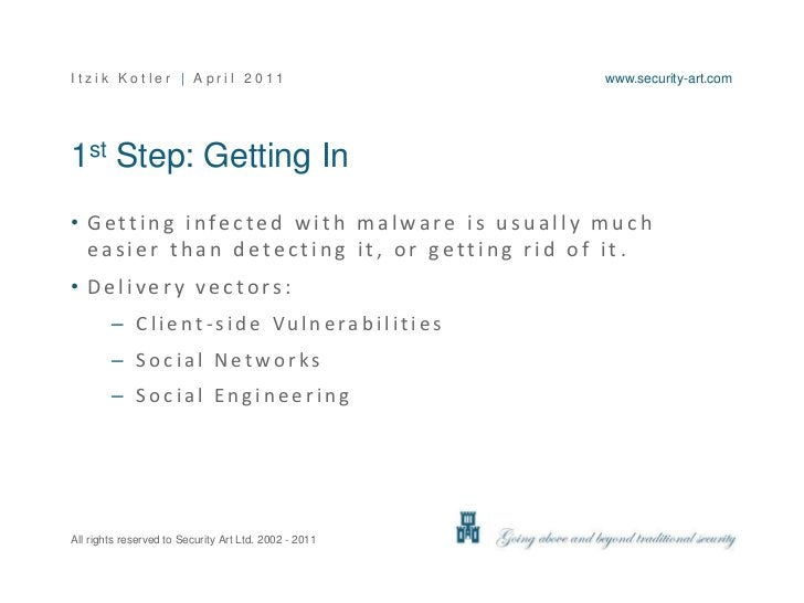 1st Step: Getting In<br />Getting infected with malware is usually much easier than detecting it, or getting rid of it.<br...