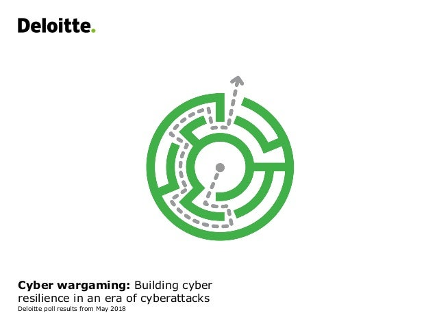 Cyber wargaming: Building cyber resilience in an era of cyberattacks Deloitte poll results from May 2018